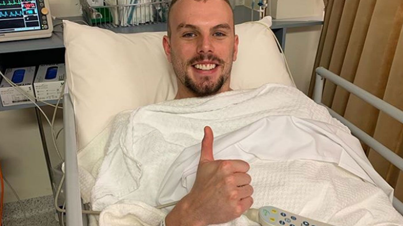 Kyle Chalmers at hospital