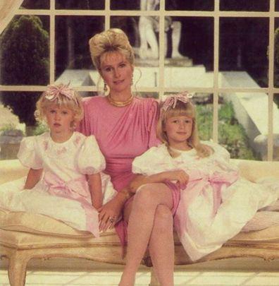 Paris Hilton, sister Nicky Hilton, mother Kathy Hilton, throwback, photo, Instagram