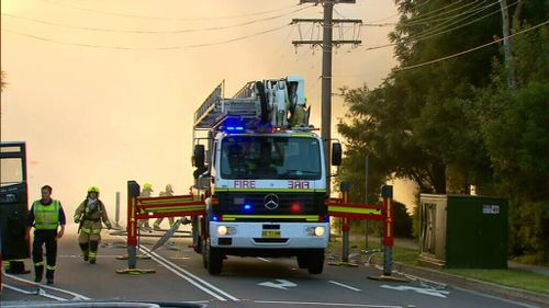 Fifty firefighters worked to extinguish the blaze. (9NEWS)