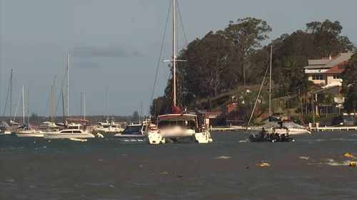 The yacht travelled from Tahitit. (NSW Police)