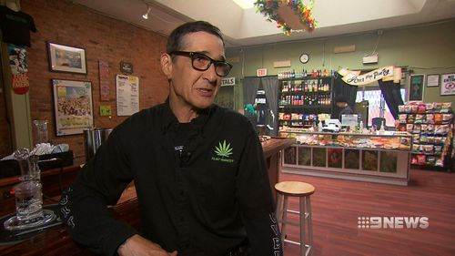 Marijuana Party's Mike Mann. Picture: 9NEWS