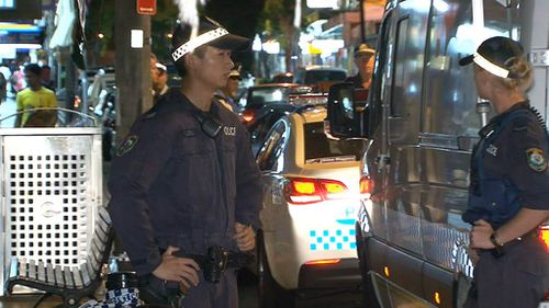 Police were on the scene from 8.40pm. (9NEWS)