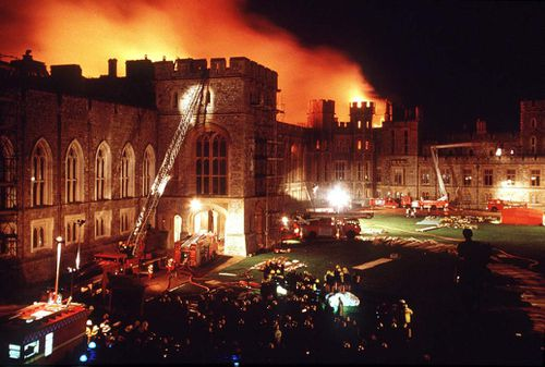 The fire was thought to have been extinguished in the day, but flared up and carried on into the night. Picture: Getty