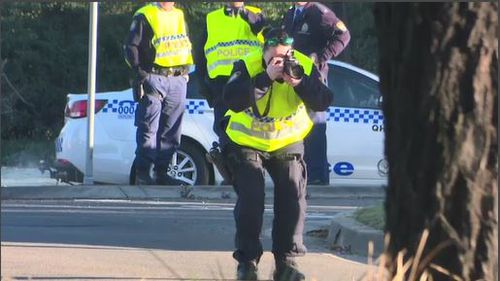 Parts of the road were closed for much of the morning while tests were completed. Image: 9News
