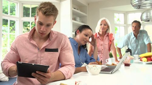More people are putting down their devices for everything from lunch to holidays.