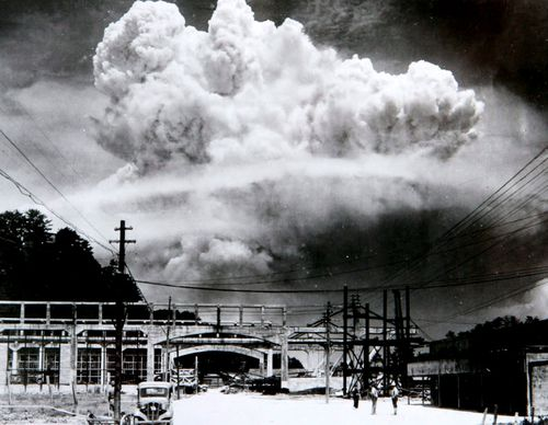 The mushroom cloud triggered by the atomic blast after the bombing 73 years ago. (Photo: AP).