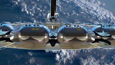 Von Braun Station space hotel designs