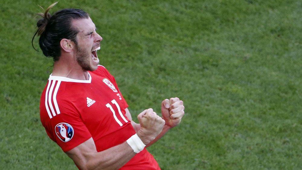 Gareth Bale celebrates his goal. (AAP)