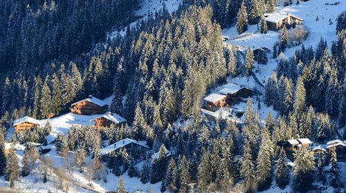 The private hamlet in the French ski resort of Meribel, French Alps, where the F1 legend owns a chalet. (Getty)