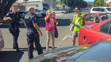 Members of Extinction Rebellion attempted to arrest Matt Canavan in Cairns.
