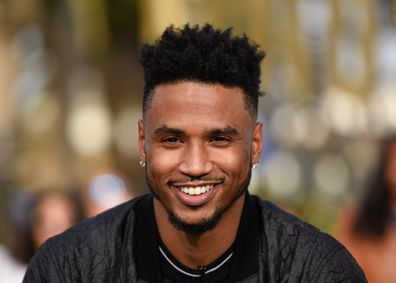 Trey Songz visits Extra at Universal Studios Hollywood on November 27, 2018 in Universal City, California.