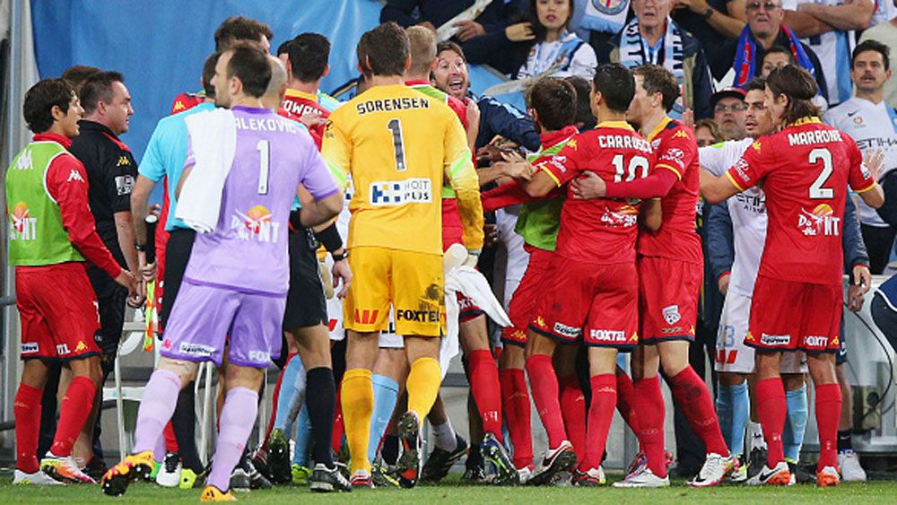 Reds top A-League, as City match gets ugly