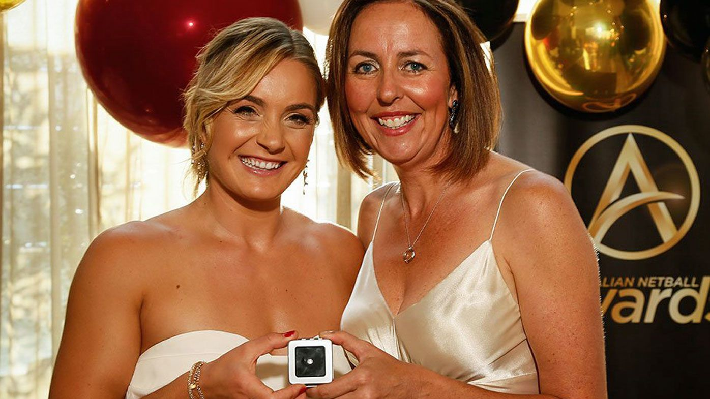 Liz Watson wins Liz Ellis Diamond at Australian netball awards