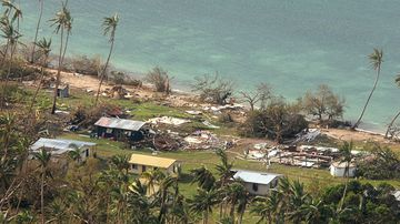 <p><strong>Harrowing images of destruction have emerged from the island nation of Fiji after the most powerful cyclone in the nation's history flattened homes, crippled infrastructure and claimed 17 lives when it tore through the Pacific island chain. &nbsp;</strong></p><p><br>Tropical Cyclone Winston made landfall in Fiji on February 20. (AP)</p>
