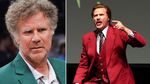 """Will Ferrell was attending a """"Funny Or Die"""" event as """"Anchorman"""" character Ron Burgundy in Oceanside, California prior to the accident. (Getty)"""