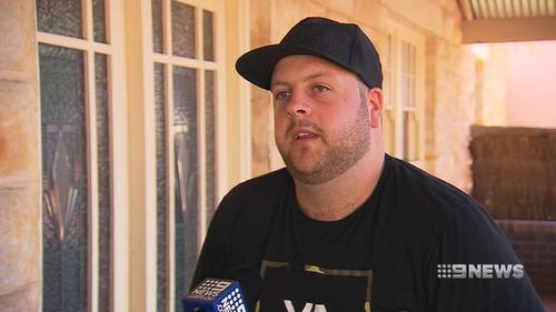 He injured ligments in his ankle in his frantic effort to escape the gunman. (9NEWS)