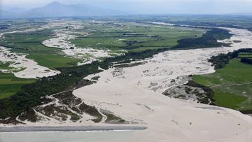 The Rangitata River's banks burst at the worst of the storms, with several road closures still in place.