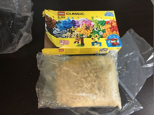 US deputies say 1.3 kilograms of meth, worth about $60,000AU was found by a child in a box of Lego.