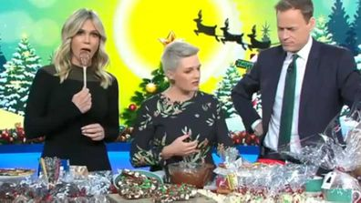 Lara Vella, Jane de Graaff and Tom Steinfort share some Today Show Christmas treats