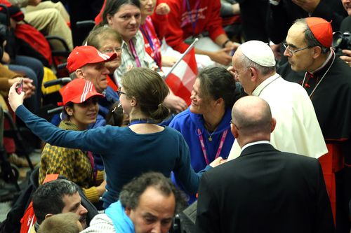 Cardinal Philippe Barbarin with Pope Francis