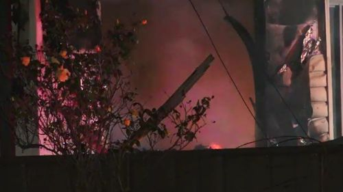 The fire broke out in a front bedroom. (9NEWS)