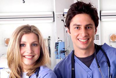 Over this medical sitcom's eight-season run (nine if you count that tragic quasi-spin-off), J.D. and Sarah (Zach Braff and Sarah Chalke) were together. Then they were apart. Then they were together. Then they were apart. Over and over again. <I>Make up your minds</I>! In the final season they finally decided to... you know what? No one even cared by then.