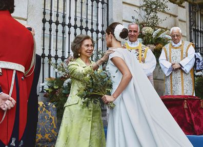 They were married at Don Fernando's parent's 18th century family estate, Liria Palace in Madrid.