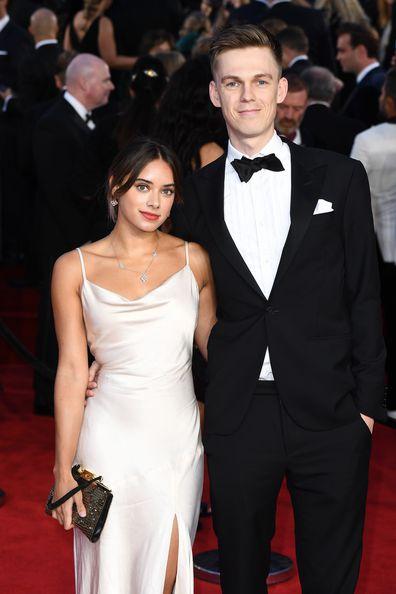 Ambar Miraaj Discoll with partner Casper Lee at the Bond movie premiere in London.