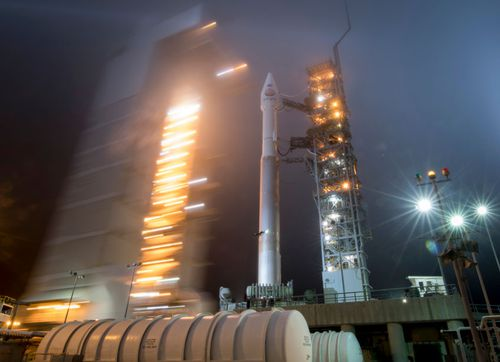 The United Launch Alliance Atlas-V rocket carried NASA's InSight spacecraft into orbit after its launch in May.