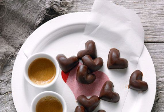 Lee Holmes' love heart chocolates