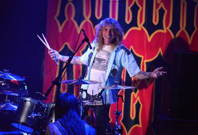 Drummer Steven Adler of Adler's Appetite performs at Whisky a Go Go on May 10, 2018 in West Hollywood, California