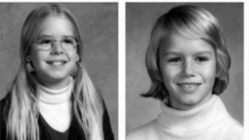 The original missing person/suspicious circumstances bulletin for the 1975 disappearance of sisters Sheila Lyon, left, and Katherine Lyon in Maryland, who never returned home from a shopping mall. (AP)