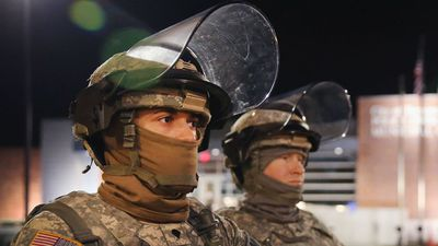 Missouri's National Guard has been called in as riots enter a second day in Ferguson. (Getty Images)