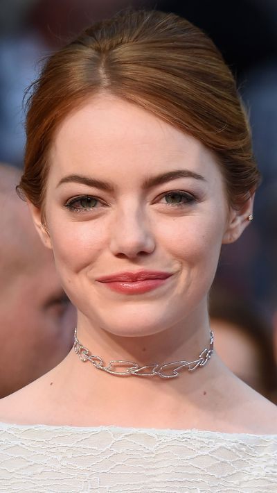 <p><strong>Day three<br>Emma Stone</strong> kept things natural and went for a chic updo on day three of the festival. (Side note: the choker is back.)</p>