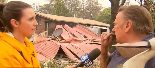 Dave McFarlane discovered last night his home of over 30 years was lost to bushfires.