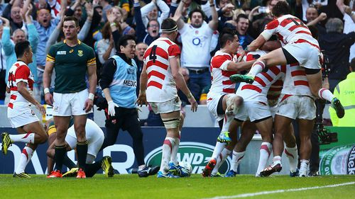 Japan defeat South Africa 34-32 in biggest upset in Rugby World Cup history