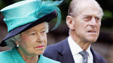 The Queen and Prince Philip at the Norwegian Ambassador's Residence in 2005.