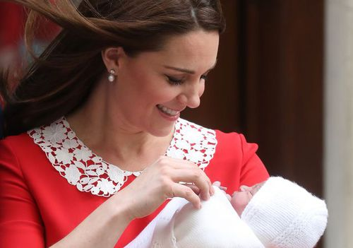 The Duchess of Cambridge with her new son. (PA/AAP)
