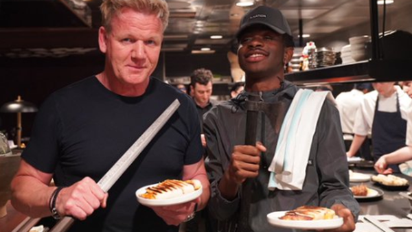Gordon Ramsey teams up with rapper Lil Nas X to make paninis