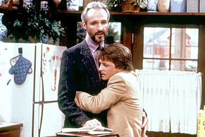 <B>The dad:</B> Steve Keaton (Michael Gross), <i>Family Ties</i><br/><br/><B>Father to:</B> Alex (Michael J. Fox), Mallory (Justine Bateman), Jennifer (Tina Yothers) and Andrew (Brian Bonsall).<br/><br/><B>Why he's a rad dad:</B> Steve was the patriarch of TV's iconic '80s family, and just about as close to a perfect dad as you can get. This typical middle-class suburban family consisted of two parents in a loving, solid relationship and their four educated children as they dealt with life in the big bad world. Pretty tame by today's standards, but haven't we all wished at one time that we had a family just like them? Sha la la la!