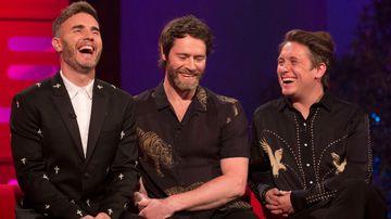 Take That's Gary Barlow, Howard Donald and Mark Owen. (AAP)