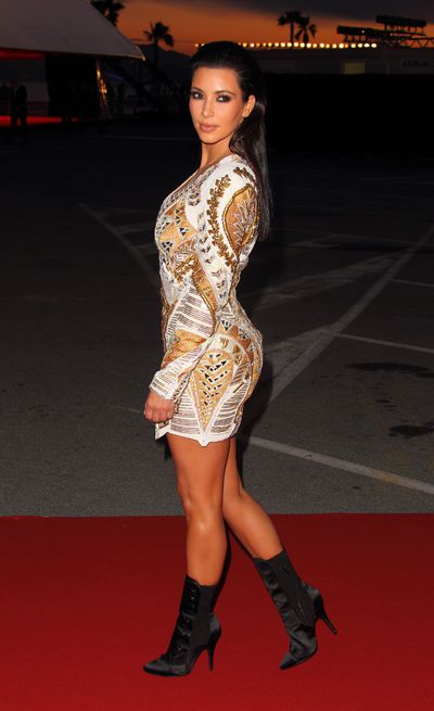 Kim Kardashian West in Balmain at the 2012 Cannes Film Festival