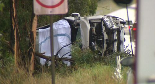 A 25-year-old woman was killed in a crash at Taree after her car left the road and hit a number of trees. (9NEWS)