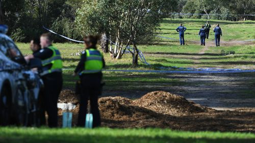 Police have cordoned off a large area of Royal Park as they investigate.