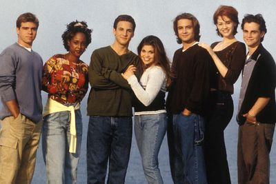 Remember this classic TV comedy? It ran from 1993 to 2000 ...<br/><br/>Left to right: Matthew Lawrence (Jack), Trina McGee (Angela), Ben Savage (Cory), Danielle Fishel (Topanga), Will Friedle (Eric), Maitland Ward (Rachel), Rider Strong (Shawn).
