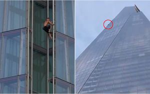 Daredevil scales London's tallest building without harness