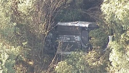 Woman found dead inside upturned car in Sydney bushland after passer-by spots wreckage