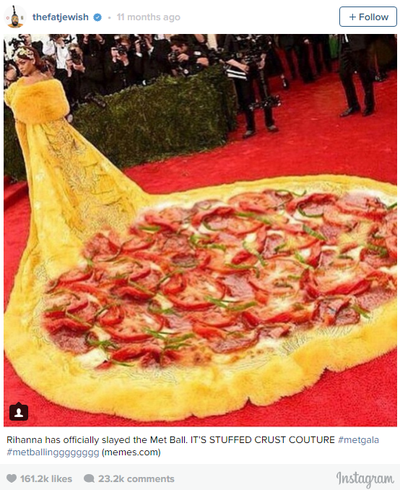 Rihanna's meme-inspiring gown