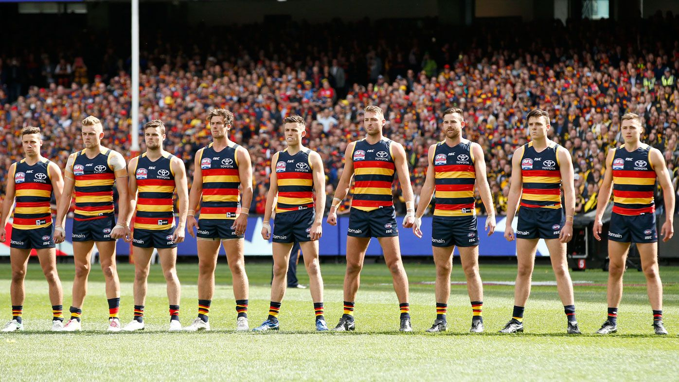The Adelaide Crows ahead of their 2017 grand final loss to Richmond.