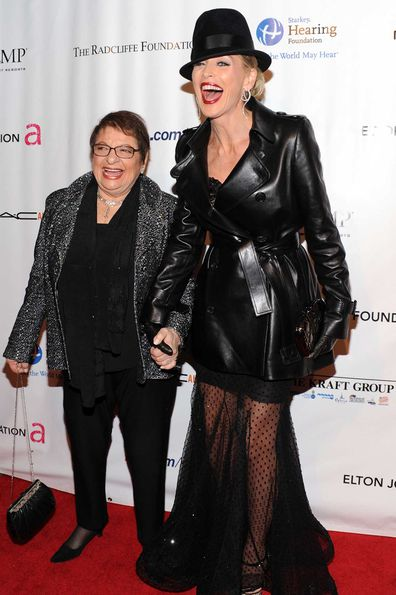 Sharon Stone and Eileen Mitzman.